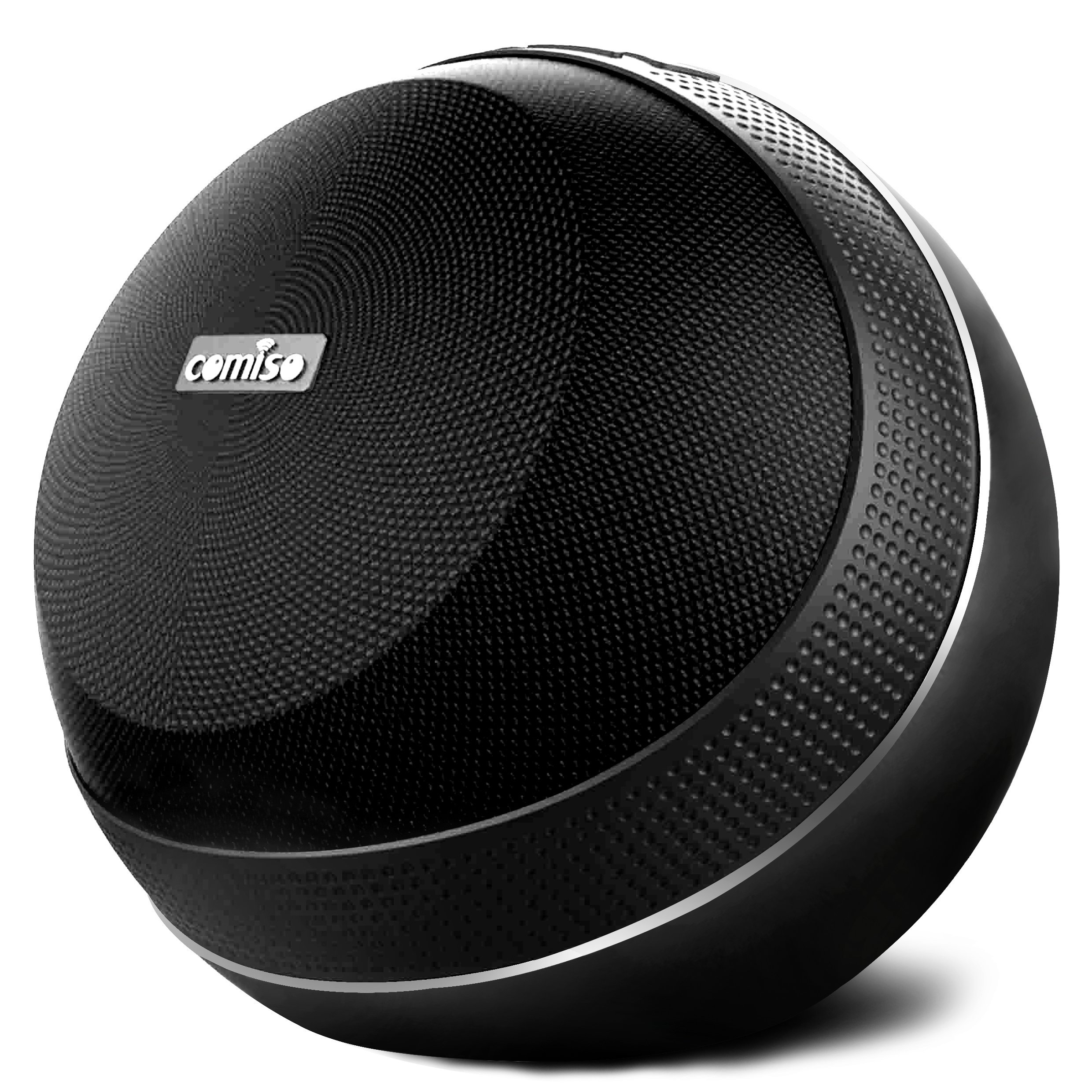 COMISO HomeAudio 30W Bluetooth Speakers, Loud Dual Driver Hi-Fi Wireless Bluetooth Speaker with HD Audio and Enhanced Bass, Wireless Stereo, Built in Mic, Aux Input, Long-Lasting Battery Life (Black)