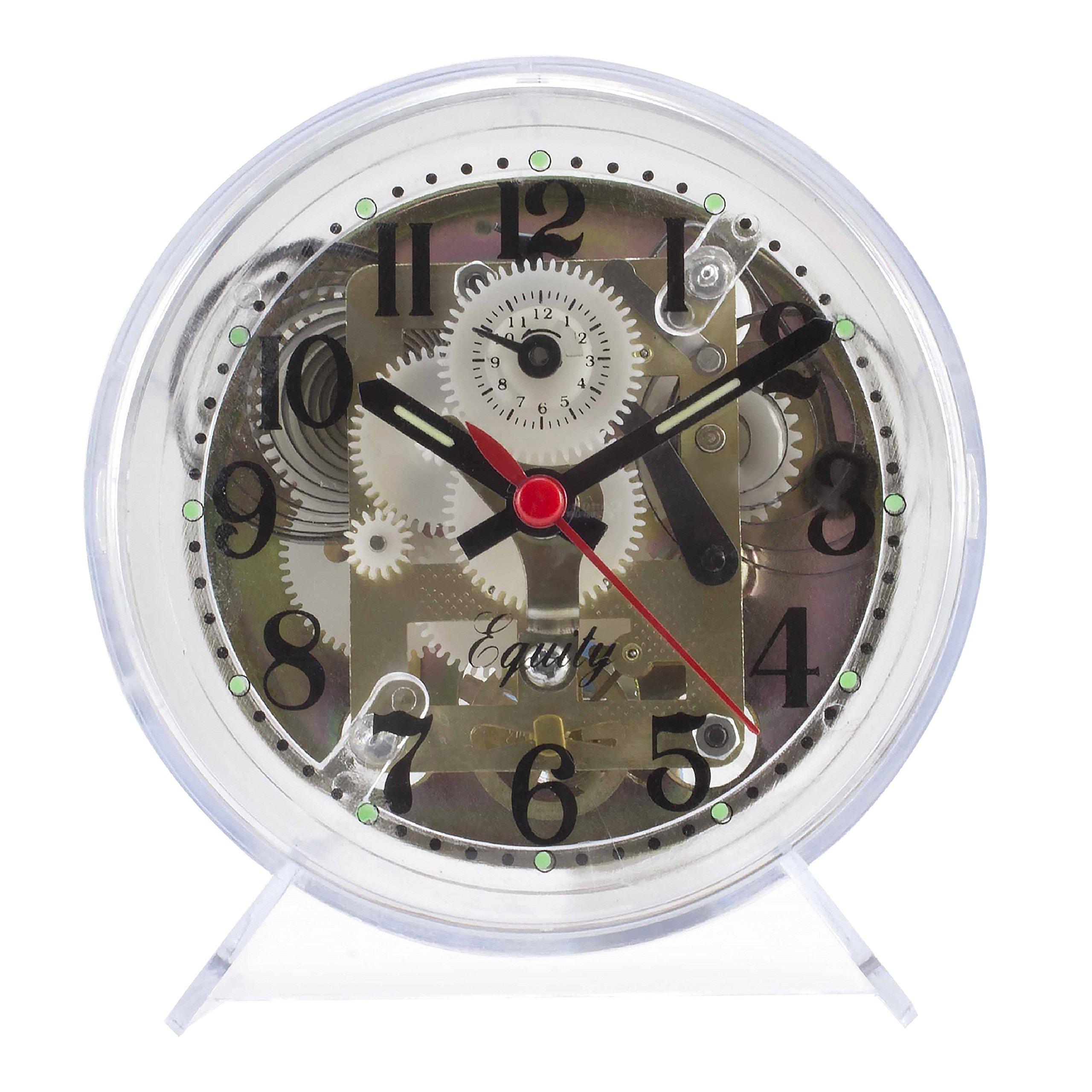 Equity by La Crosse Keywound Alarm Clock (Black)