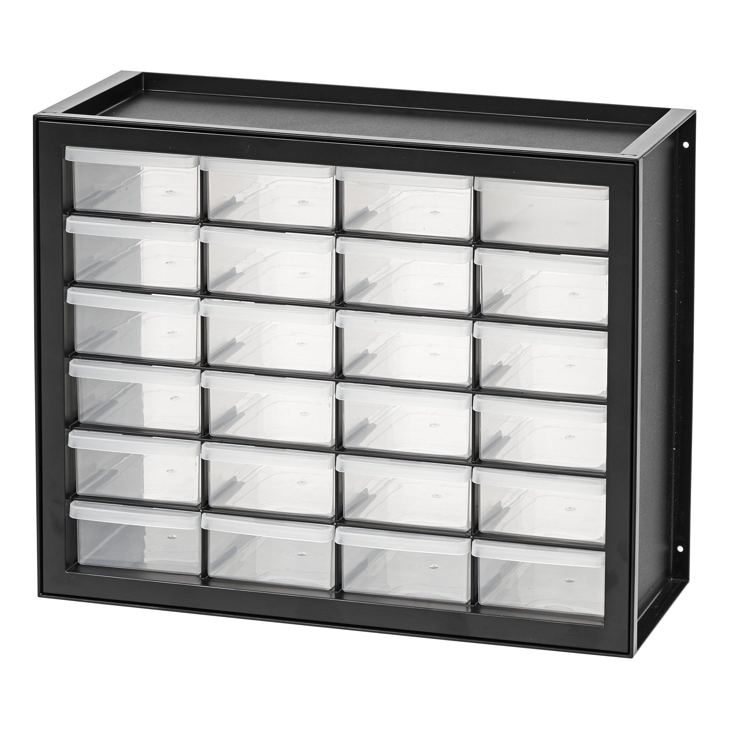IRIS USA, Inc. DPC-24 24 Drawer Parts and Hardware Cabinet, Black by IRIS USA, Inc.