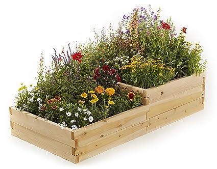 Naturalyards Raised Garden Bed, Multi-Level (Cedar, 2'x4'x16 5