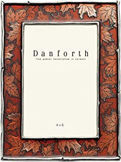 product image for DANFORTH - Maple Leaf 4x6 Pewter Picture Frame (Autumn) - Handcrafted - Gift Boxed