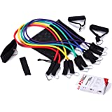 Rukket Pure Training 11pc Resistance Band Set with Door Anchor, Ankle Strap, Carrying Case, and Exercise Starter Guide