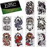 BMC 10pc Large Temporary Water Transfer Fashion Tattoos Set - Bad to the Bone
