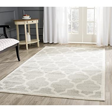Safavieh Amherst Collection AMT420B Light Grey and Beige Indoor/ Outdoor Area Rug (5' x 8')