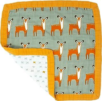 Tiny Alpaca - Edredón de muselina de algodón orgánico de lujo, manta de seguridad para bebés y niños pequeños, 4 capas de diseños de animales Deer Talla:Baby: Amazon.es: Bebé