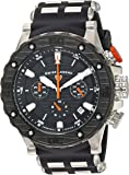 Swiss Legend Men's 'Hunter' Swiss Quartz Stainless Steel and Silicone Casual Watch, Color:Black (Model: 15253SM-01-BB-OA)