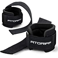 Fitgriff® Lifting Straps + Wrist Support Padding - Comfort Gym Straps for Weightlifting, Bodybuilding, Gym, Workout…