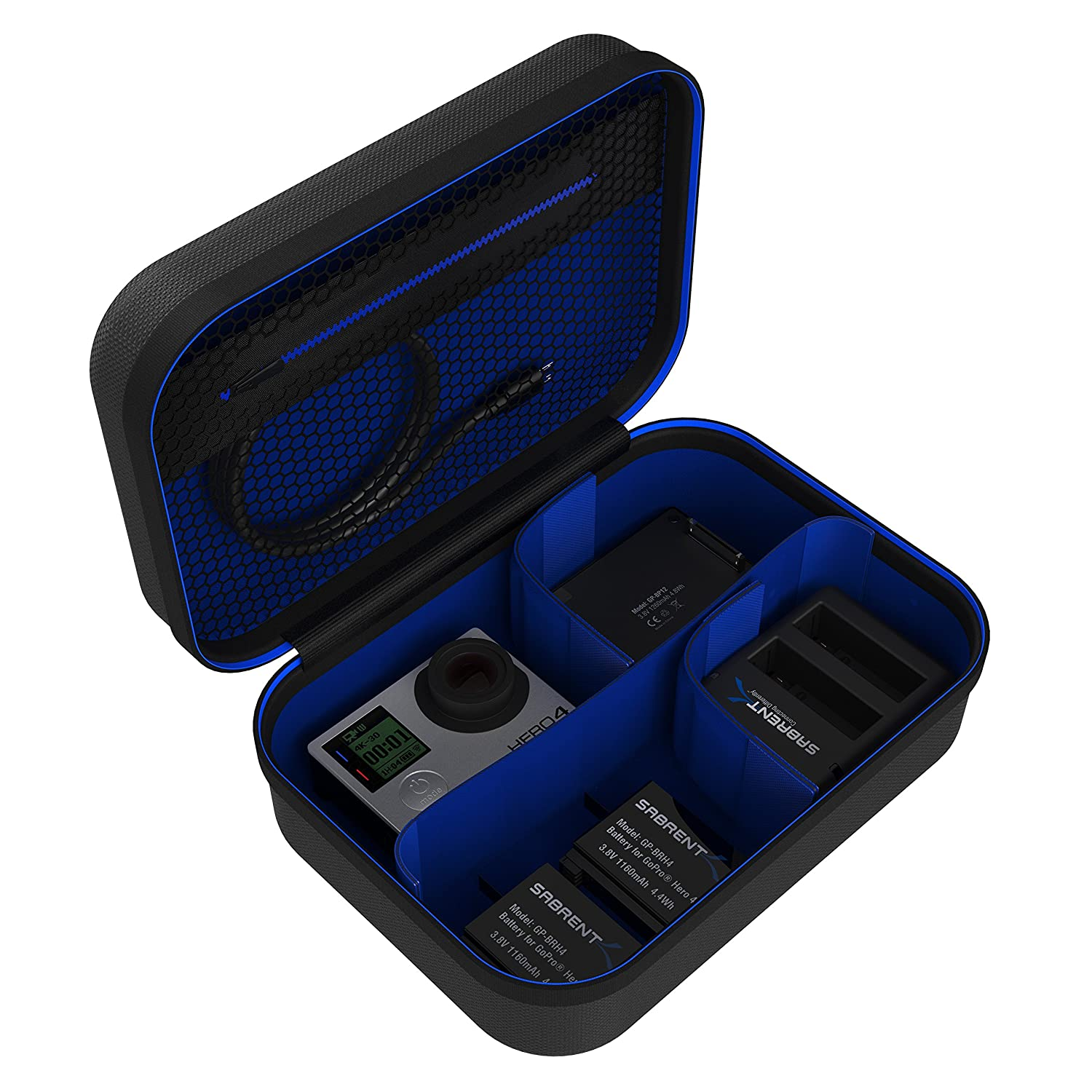 Small GP-CSSL Sabrent Universal Travel Case for GoPro or Small Electronics and Accessories