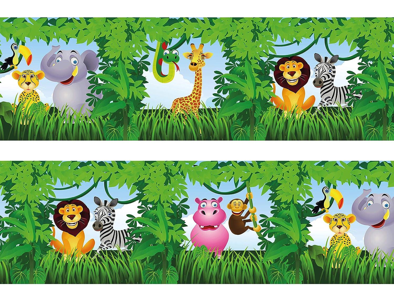Frise Animaux de la jungle 260/x 15/cm