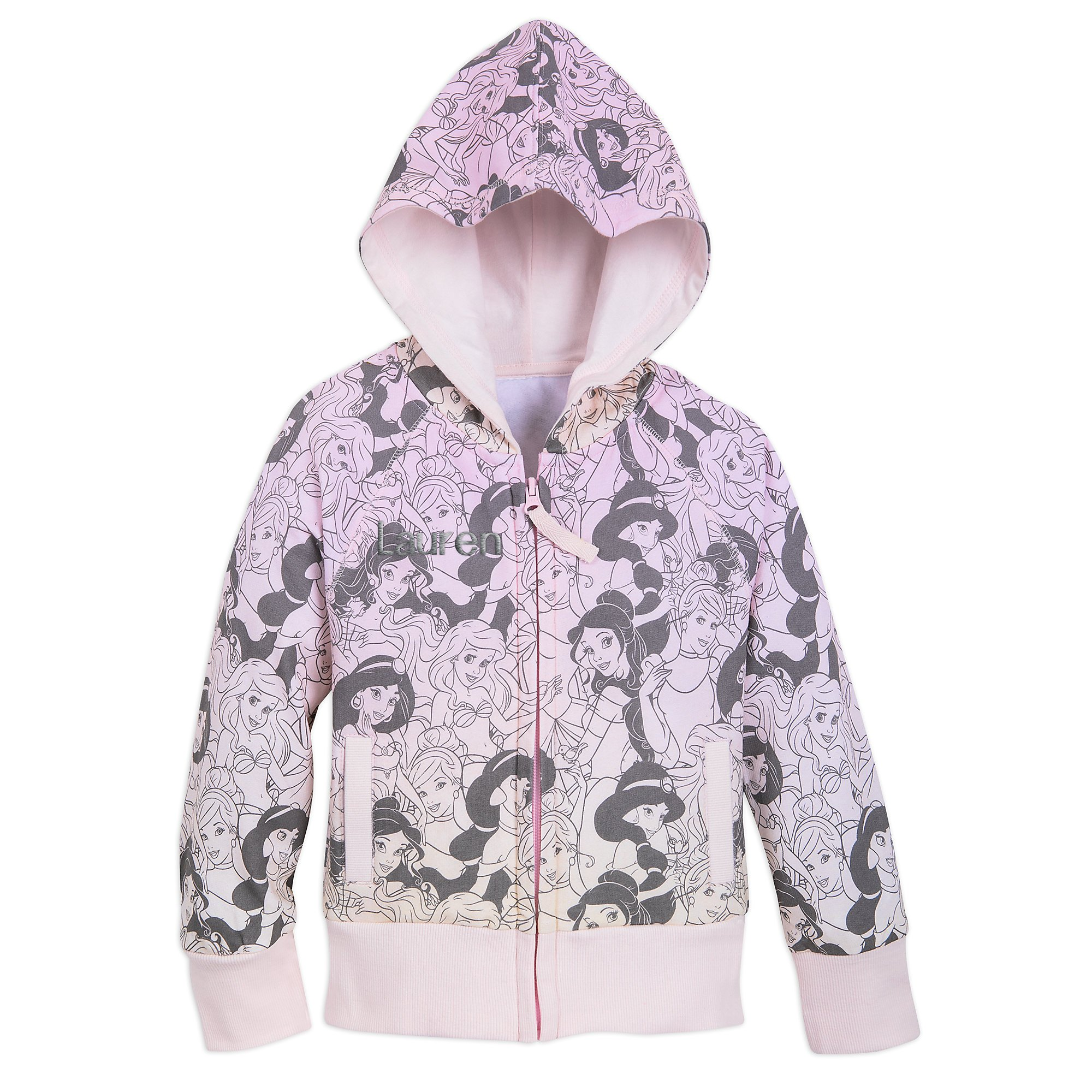 Disney Princess Hoodie for Girls - Size 5/6 Pink