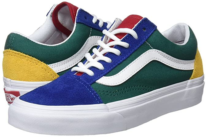 826f80d9f3849 Vans Unisex Adults' Old Skool Trainers, Multicolour ((Vans Blue Yacht Club)  Blue/Green/Yellow R1Q), 4.5 UK 37 EU