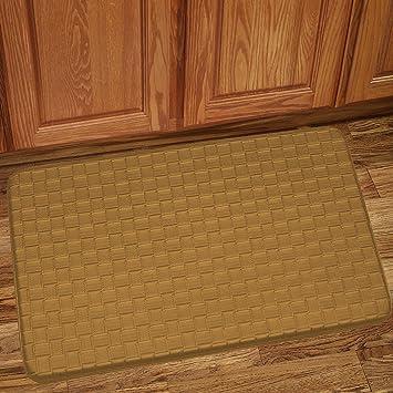 Beau Sweet Home Collection Memory Foam Anti Fatigue Kitchen Floor Mat Rug, Playa  Tan, 30u0026quot