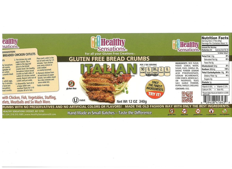 Healthy Sensaciones sin gluten Pan crumbs- 2 12oz ...