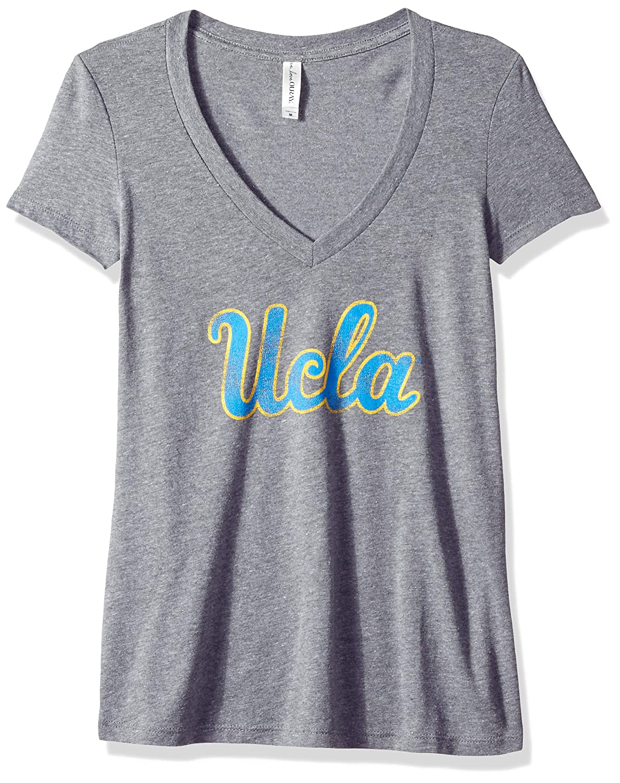 Premium Heather NCAA UCLA Bruins Womens Tri Blend Deep V Short Sleeve Tee 2X