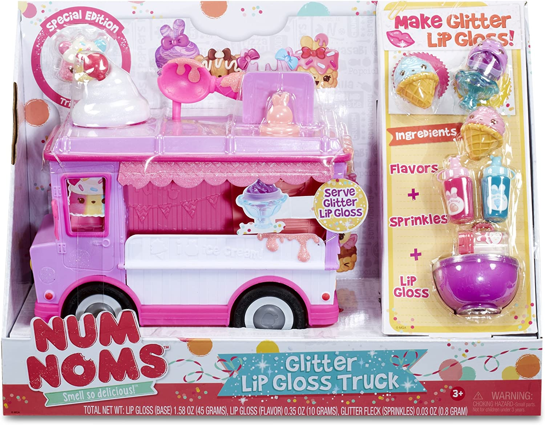 Num Noms Glitter Lip Gloss Truck Maquillaje y belleza Estuche de juego - Juegos de rol (Maquillaje y belleza, Estuche de juego, Chica, Multicolor, 254 mm, 228,6 mm): Num Noms: Amazon.es: Belleza