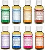 Dr. Bronner's 2 oz. Sampler- 8 Piece Gift Set. (8) 2 oz. Castile Liquid Soaps in Almond, Unscented, Citrus, Eucalyptus, Tea Tree, Lavender, Rose, and Peppermint