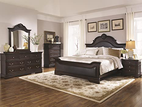 Coaster Home Furnishings 203191Q-S4 Bedroom Furniture Set, Dark Brown