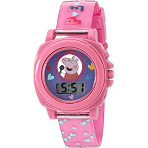 Peppa Pig Girls Quartz Plastic Watch, Color:Pink (Model: PPG6000)
