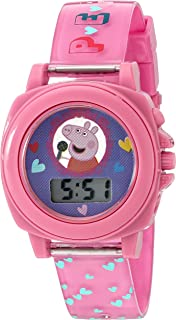 Peppa Pig Girls Quartz Plastic Watch, Color:Pink (Model: PPG6000)
