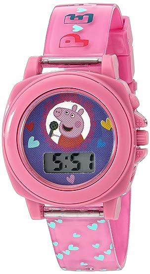 Amazon.com: Peppa Pig Girl s cuarzo reloj automático de ...