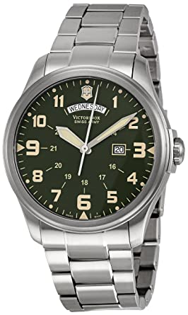 amazon com victorinox swiss army men s 241291 infantry stainless victorinox swiss army men s 241291 infantry stainless steel watch