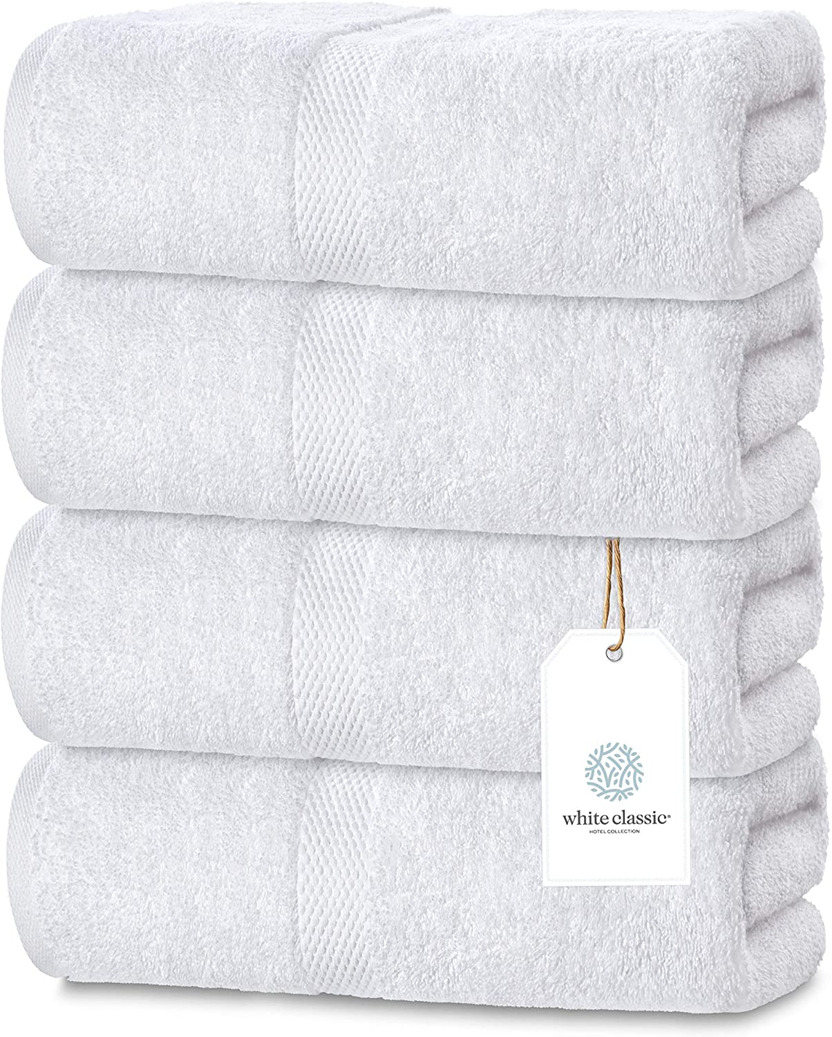 6 white 24x50 home deluxe brand soft bath towels 12# absorbent plush hotel