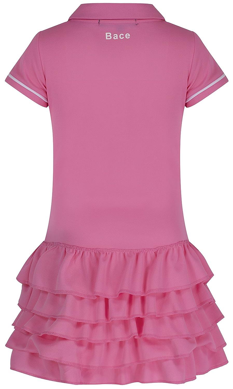 Niñas vestido de tenis, color rosa con volantes vestido de tenis junior vestido de netball Golf Vestido Ropa de Deporte: Amazon.es: Deportes y aire libre