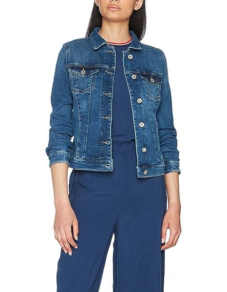es Manga Small Chaqueta Accesorios 911 Tommy X De Classic Mid Y Amazon Larga protect Azul Mujer Ropa Mezclilla Trucker Jeans Blue ZqT0B