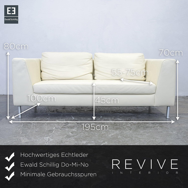 Amazon De Ewald Schillig Do Mi No Designer Sofa Leder Creme Zweisitzer Couch Modern Echtleder 3923