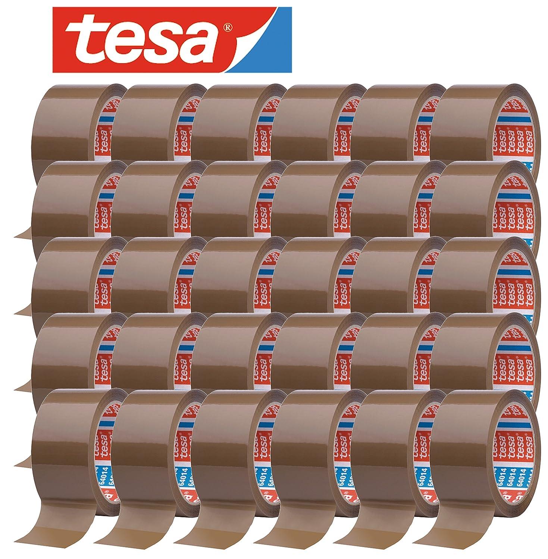 tesa 64014 Klebeband Paketklebeband Packband 66m x 50mm Braun, 12 Rollen Aktionspack