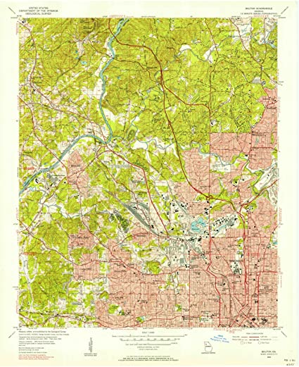 Geologic Map Of Georgia.Amazon Com Georgia Maps 1954 Bolton Ga Usgs Historical
