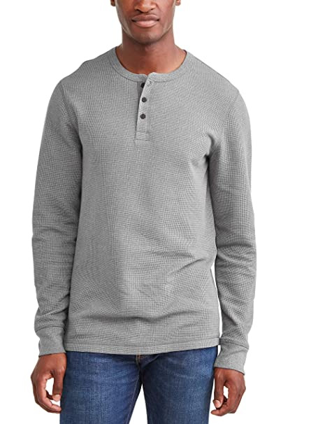 e0c3f47e7568 George Men's Long Sleeve Thermal Henley at Amazon Men's Clothing store: