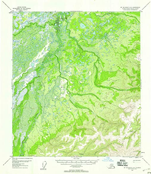 Amazon.com: Alaska Maps   1954 Mount McKinley, AK USGS Historical ...