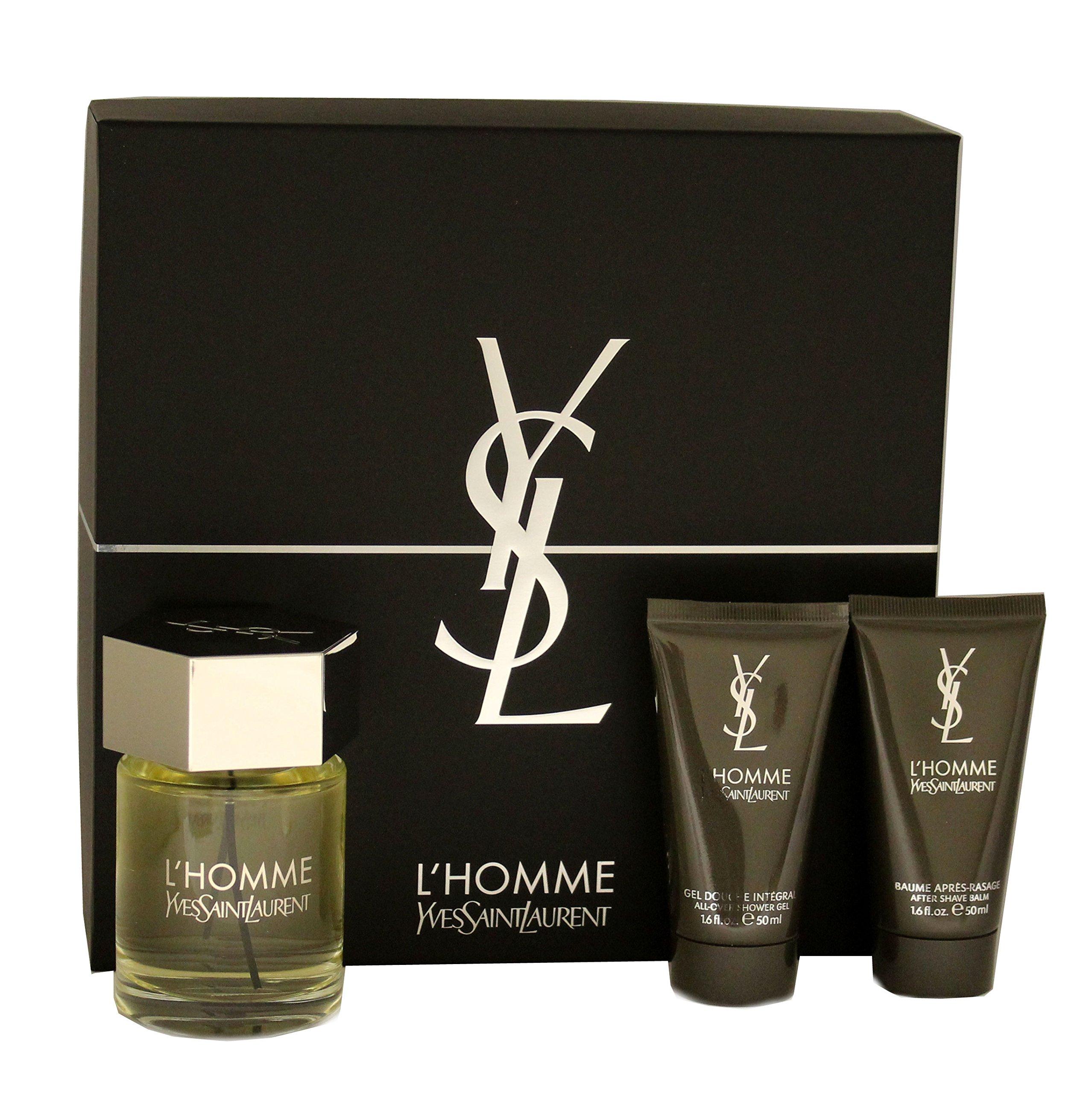 L'Homme Gift Set (3.4 EDT + 1.6 Shower Gel + 1.6 After Shave Balm)