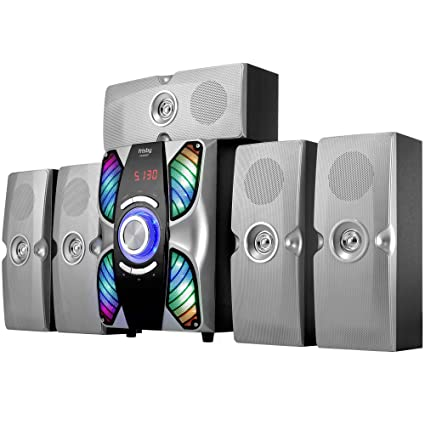 Frisby FS 6900BT Silver Home Theater 51 Surround Sound System Bluetooth Receiver Stereo Subwoofer With USB