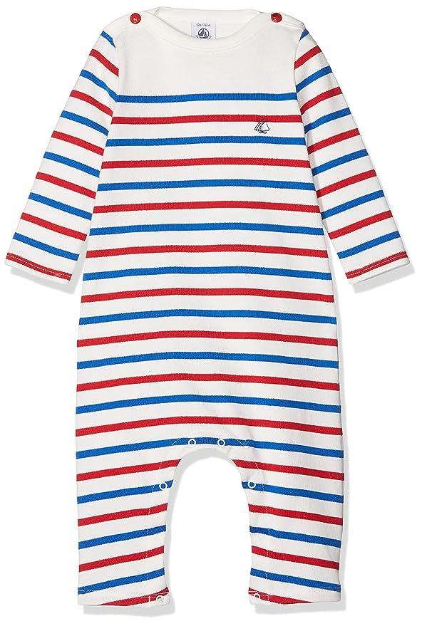 Petit Bateau Baby-Jungen Strampler Combinaison Longue