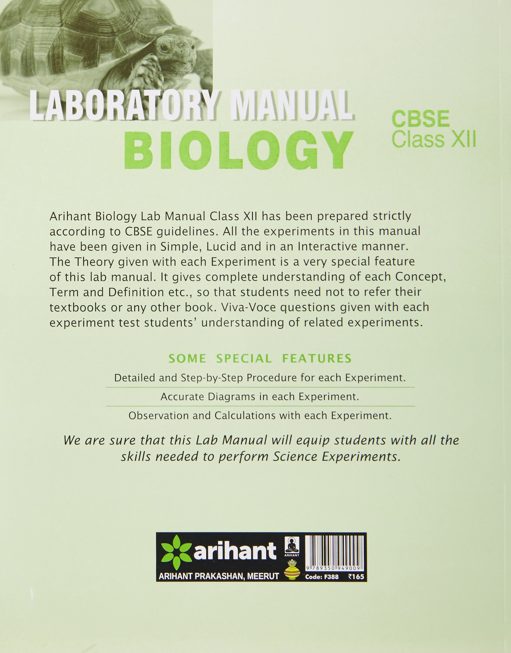 CBSE Laboratory Manual Biology Class 12th  Experiments\Activities\Projects\Viva-Voce: Amazon.in: Arihant Experts: Books
