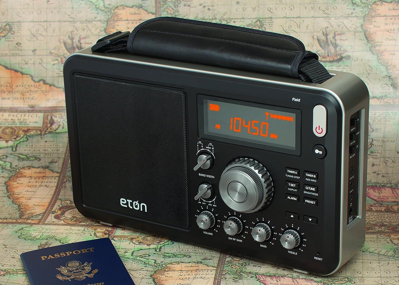 Eton Campo Am/FM con RDS y Radio de Onda Corta, Negro (ngwfb)