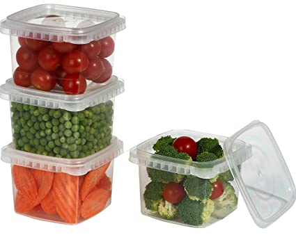 Amazoncom Space Saver Deli Food Storage Containers With Lids 16 Oz