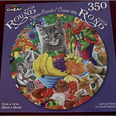 LPF Kitty City 14 inch Diameter Round Jigsaw Puzzle 350 Pieces: Toys & Games