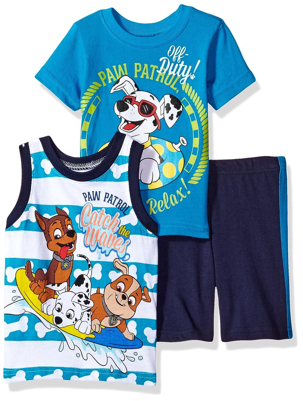 Paw Patrol Boys 3 Piece Tee Tank /& Short Set Blue 12m