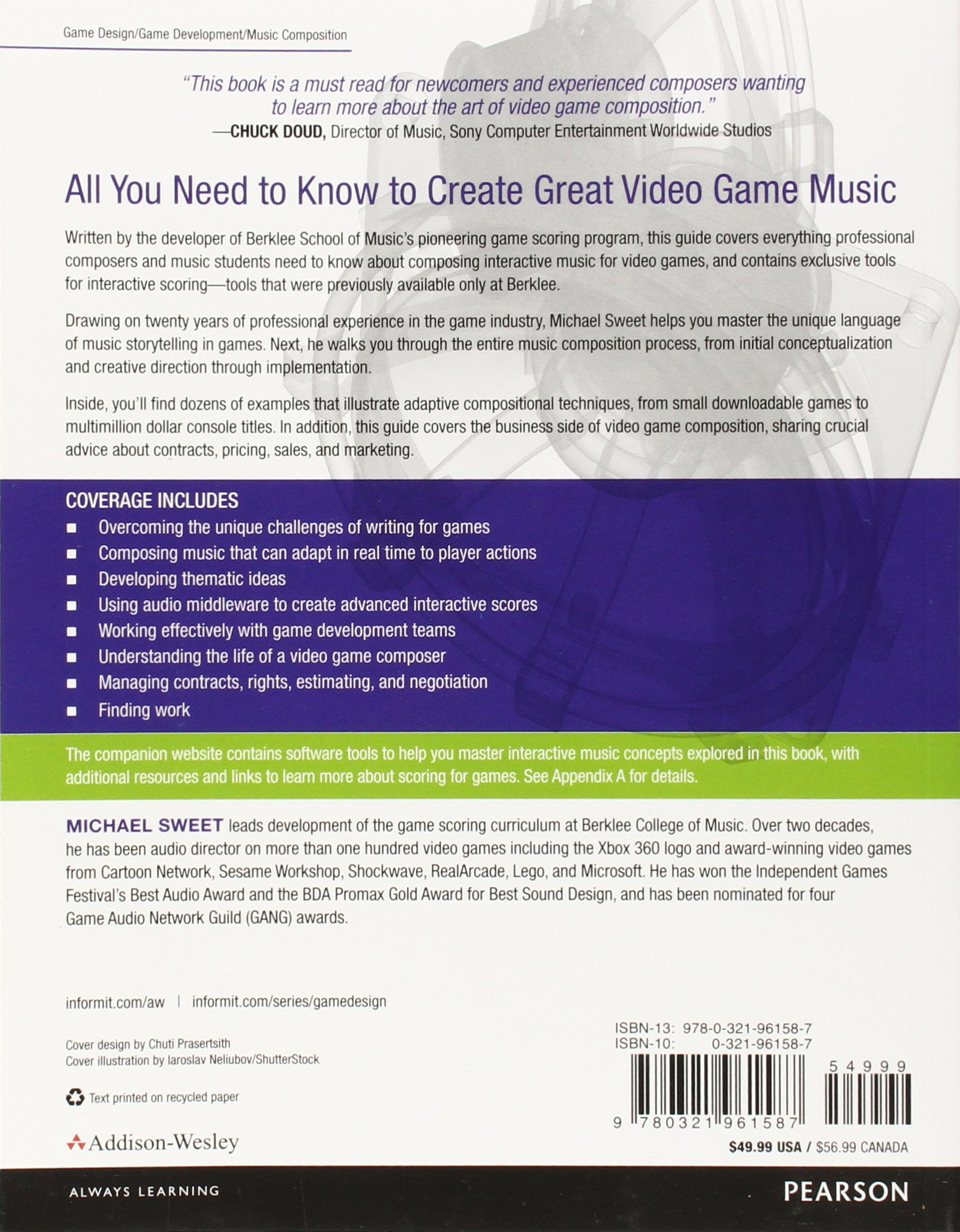 Writing Interactive Music For Video Games The AddisonWesley Game - Game design work experience