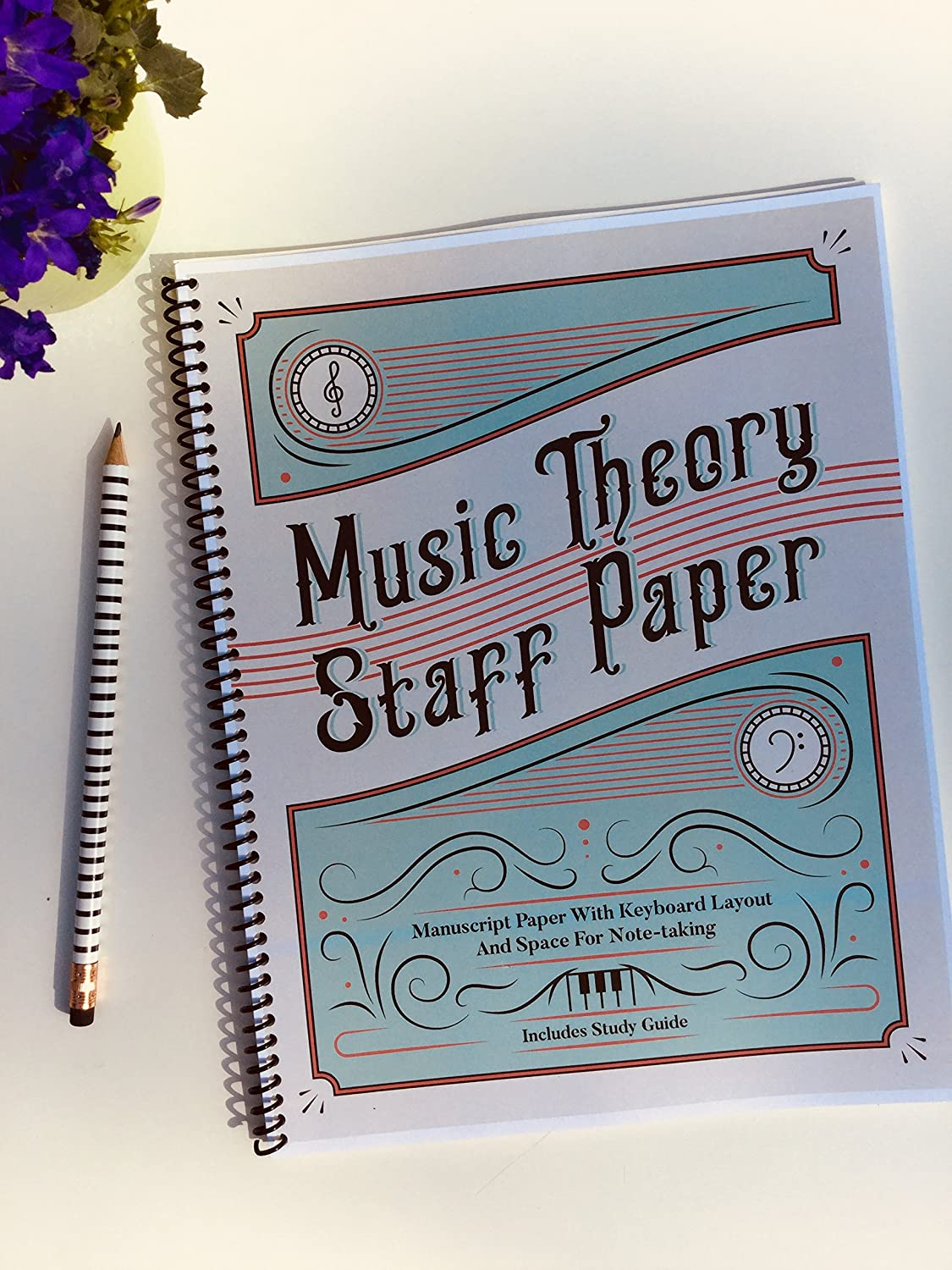 Amazon Music Theory Staff Paper Notebook Musical Instruments