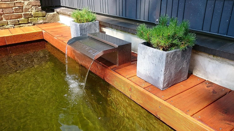 Faszinierend Pool Mit Salzwasser Ideen Von Niro-dreams Edelstahl V4 A Wasserfall 900 Schwimmbad,pool
