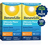 Renew Life Extra Care Probiotic - Ultimate Flora Extra Care, Shelf Stable Probiotic Supplement - Gluten, Dairy & Soy…