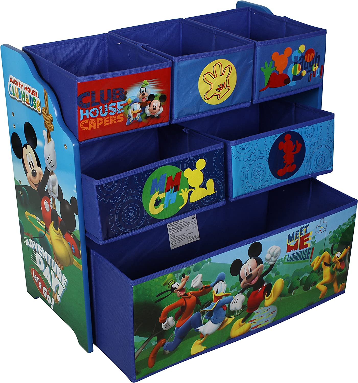 Minnie Mouse Childrens Toy Storage Box Organiser Metal Multi Tray Kids Bedroom Playroom Furniture