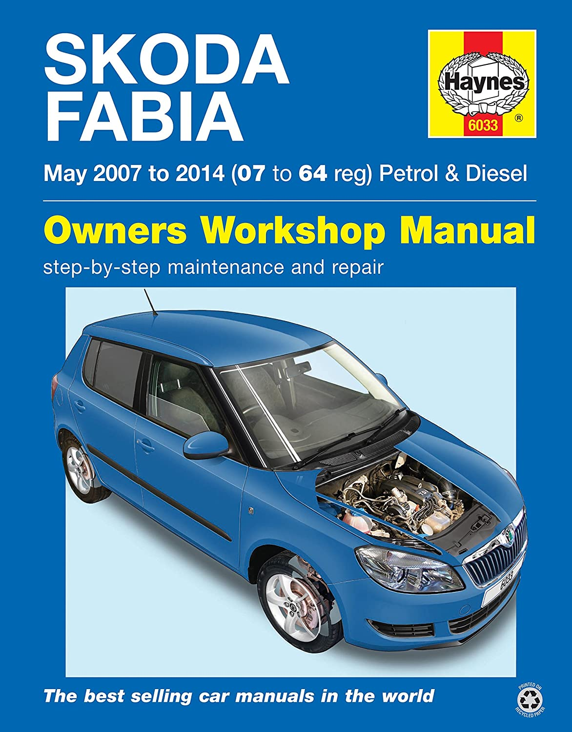 Skoda Fabia May 2007 to 2014 (07 to 64 reg) Petrol & Diesel: Amazon.co.uk:  Car & Motorbike