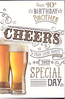 Brother 40th Birthday Card Amazon Co Uk Office Products