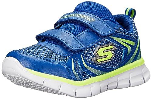 Skechers SynergyMini Dash - zapatilla deportiva de material sintético niño, color azul, talla 20