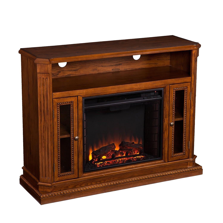 amazon com southern enterprises atkinson media fireplace 47